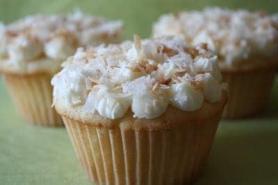 Post image for Pina Colada Cupcakes