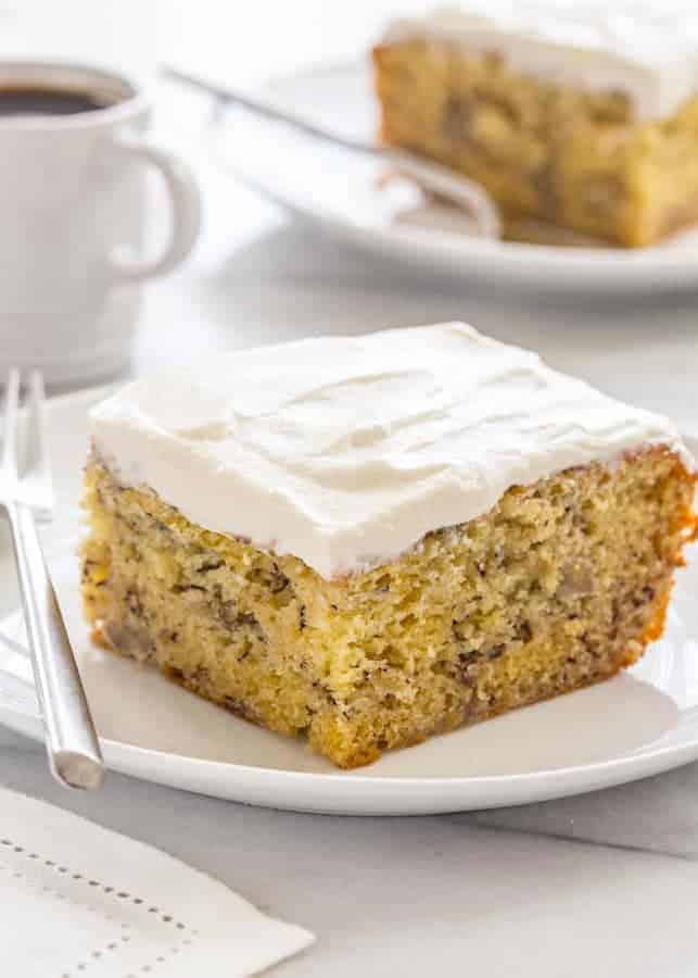 Banana And Sour Cream Cake