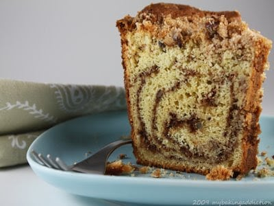 Sour Cream Coffee Cake with Toasted Pecan Filling... - My Baking ...