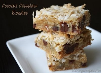 Post image for Coconut Chocolate Blondies