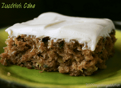 Zucchini Cake With Cream Cheese Frosting Pioneer Woman