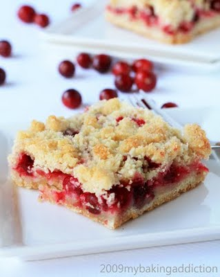 Post image for Cranberry Crumb Bars