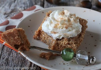 Post image for Pumpkin Streusel Cheesecake Bars