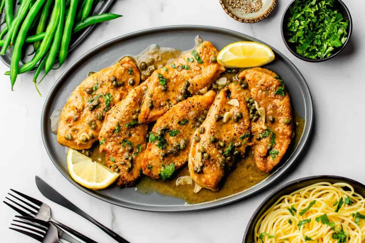 Chicken Piccata is the perfect dinner for anyone who loves the bright flavors of lemon and capers