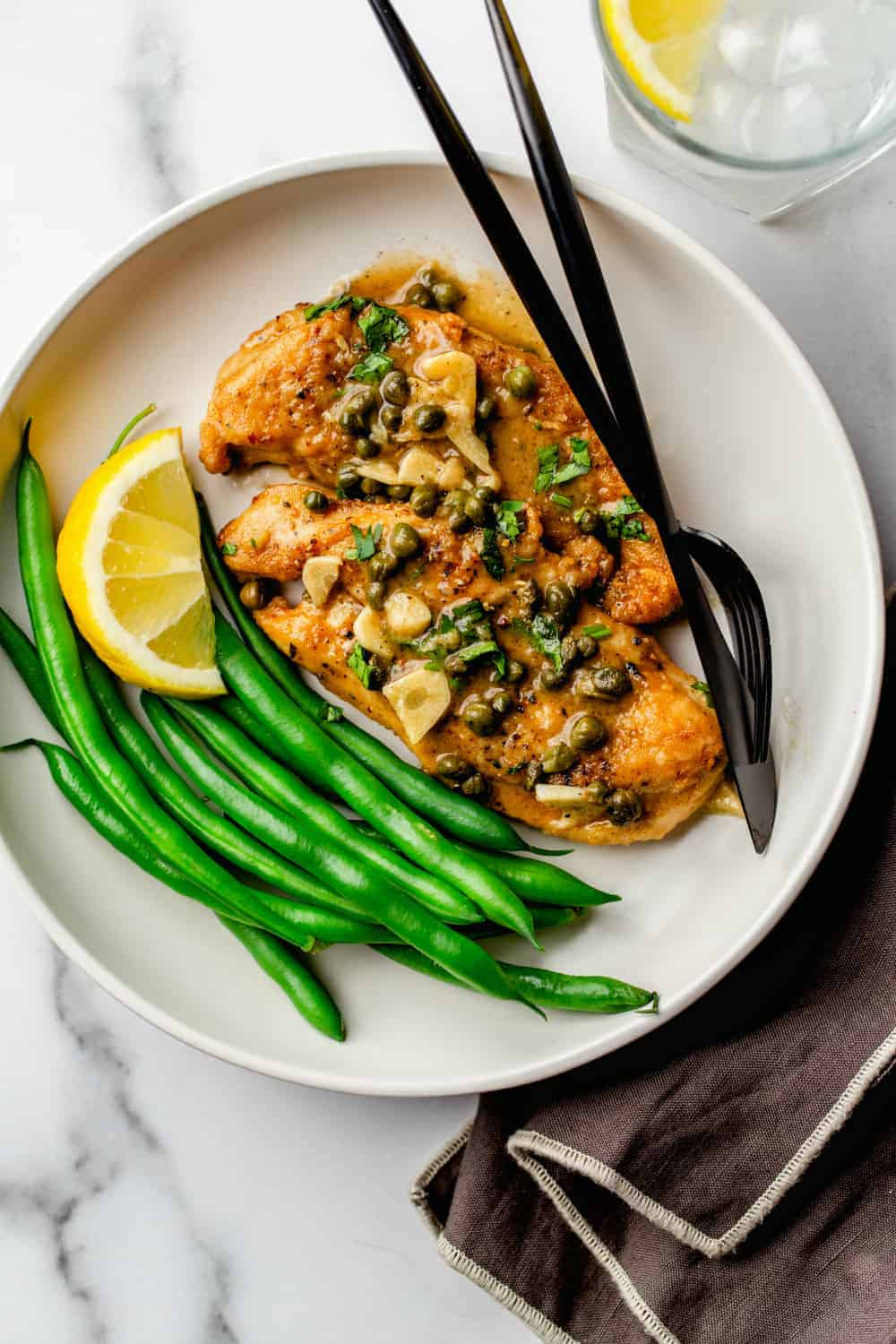 Chicken Piccata is a bright, lemony dish, delicious for any night of the week!