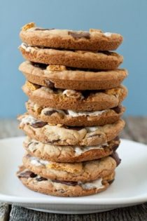 Stack of smore cookies