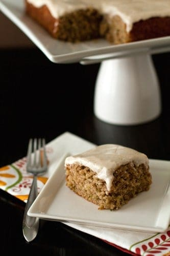 Spiced Zucchini Cake with Maple Cream Cheese Frosting | My Baking ...