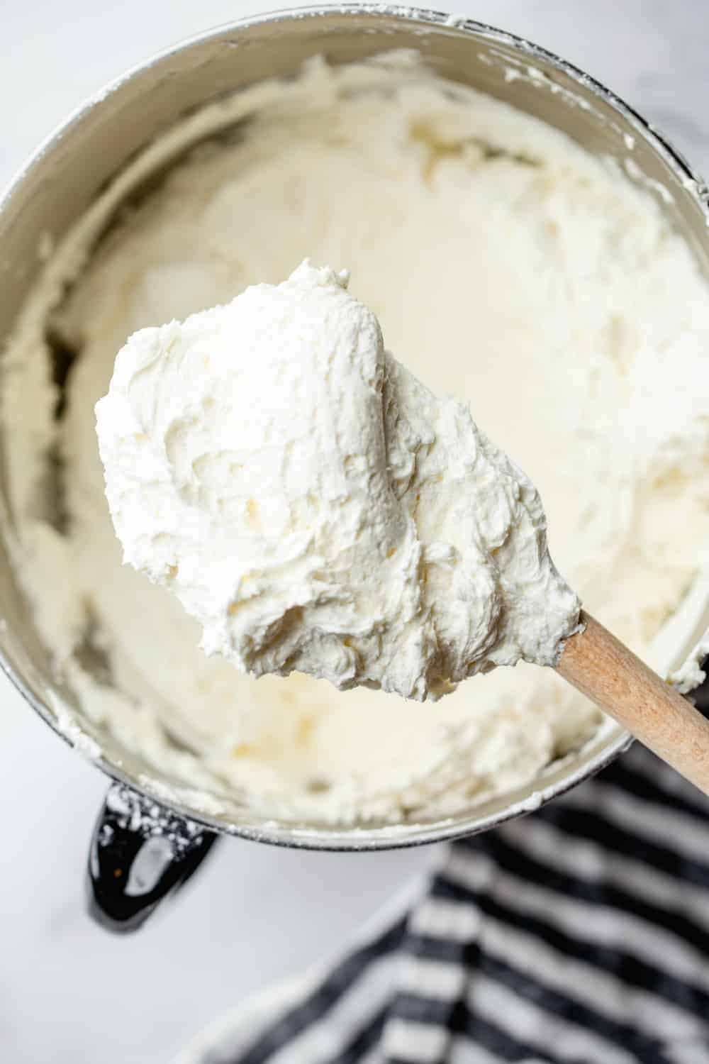 Fluffy frosting is so easy to make at home with this Homemade Buttercream Frosting recipe