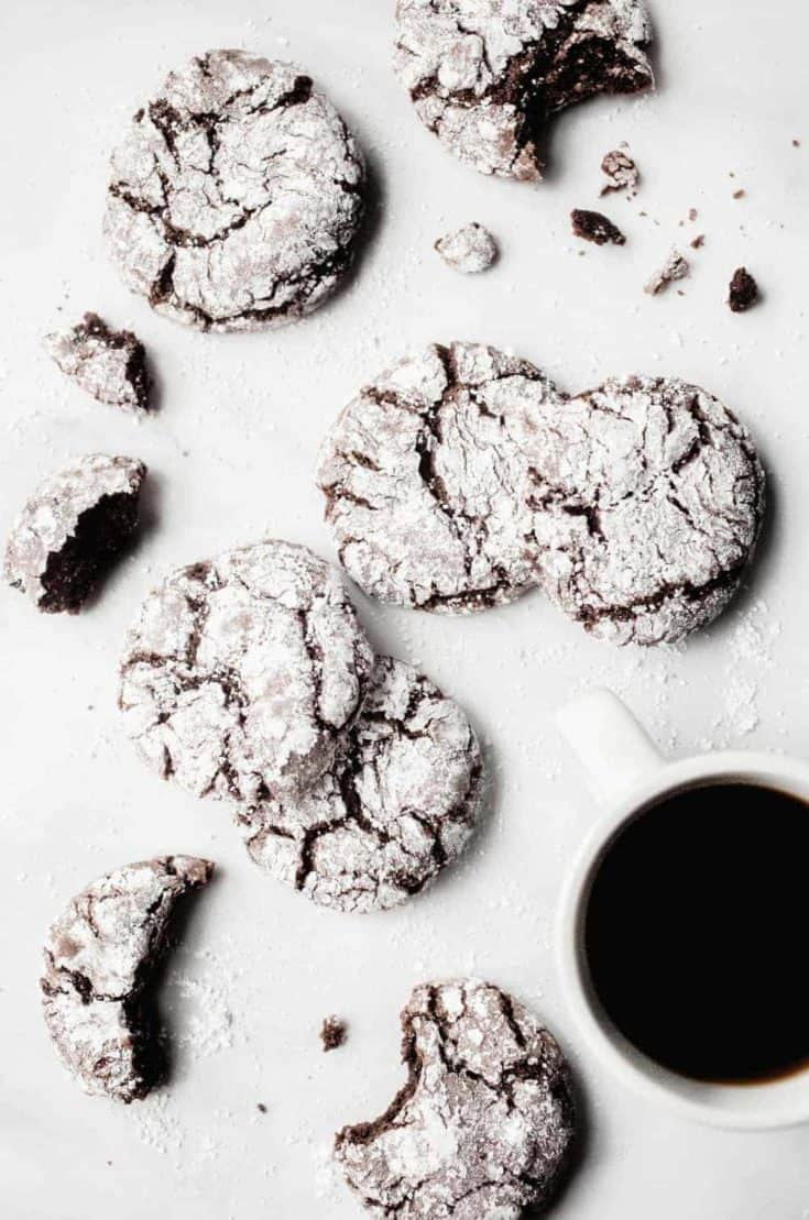 Made with a devil's food cake mix, Chocolate Crinkle Cookies are soft, slightly chewy, and ideal for making with your kids this holiday season.