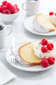 Cream Cheese Pound Cake is one delicious way to treat yourself to dessert. Whip it up for your first barbecue of the summer!