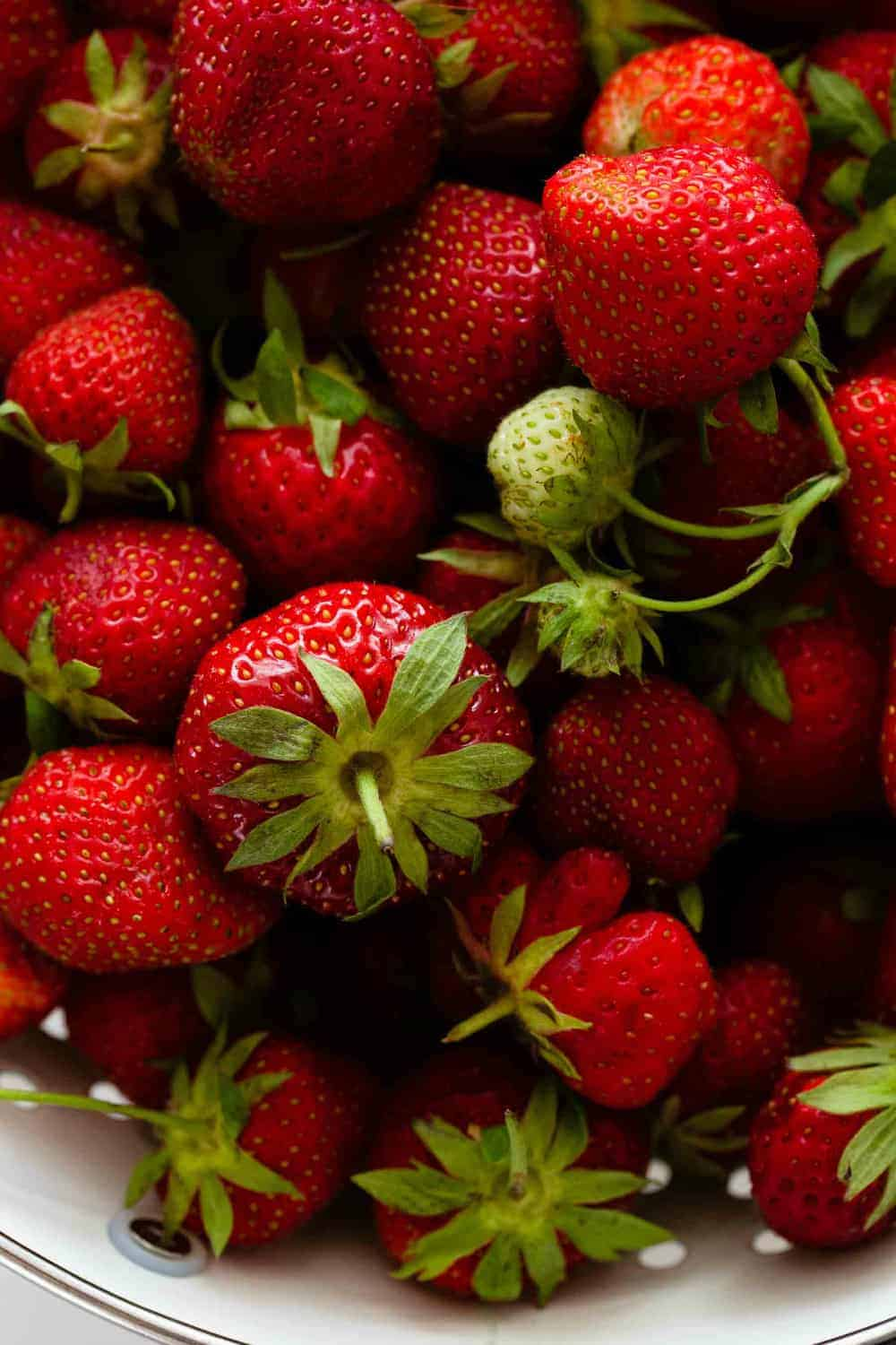 Fresh, whole strawberries