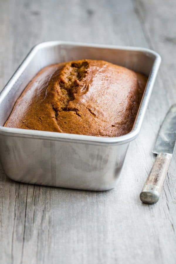 Pumpkin Bread is loaded with warm spices and full of delicious pumpkin flavor. So perfect for fall!