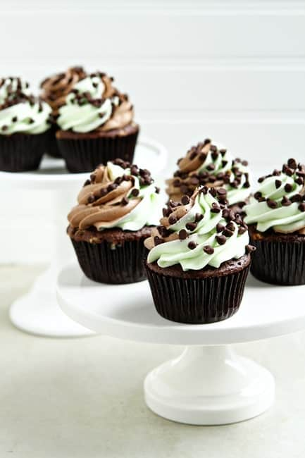 Post image for Mint Chocolate Chip Cupcakes