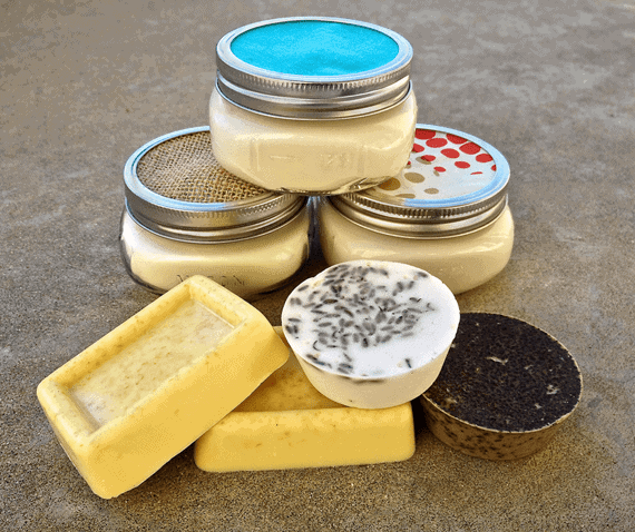 Holiday gifts soy candles glycerin soap my baking