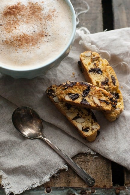 Chocolate Cherry Almond Biscotti | My Baking Addiction