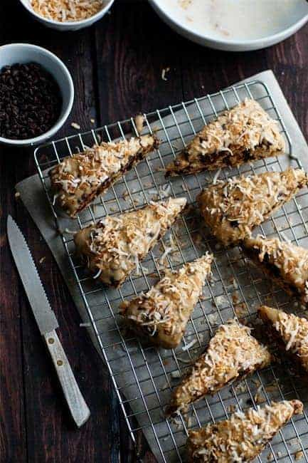 Post image for Chocolate Coconut Scones