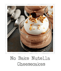 No Bake Nutella Cheesecakes