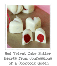Red Velvet Cake Batter Hearts