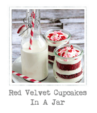 Red Velvet Cupcakes in a Jar