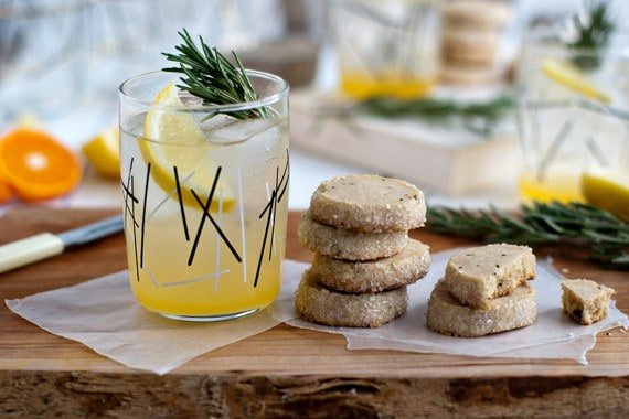 Rosemary Lemon Shortbread Cookies | My Baking Addiction