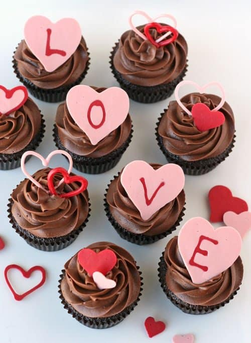 Decorating Ideas > How To Make Heart Accents For Cupcakes  My Baking Addiction ~ 181440_Love Cake Decoration Ideas