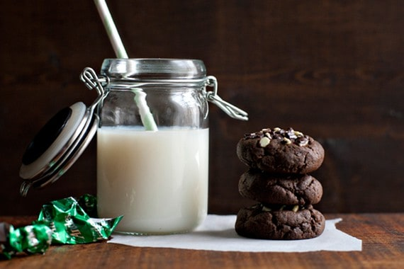 Post image for Crème de Menthe Stuffed Chocolate Cookies