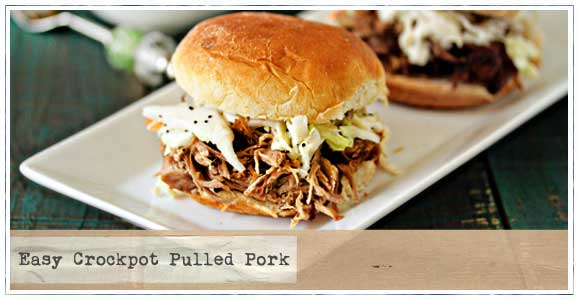 easy crock pot pulled pork sandwich