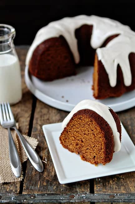 Post image for Pumpkin Bundt Cake with Cream Cheese Frosting