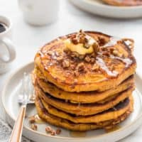 Pumpkin Pancakes are loaded with delicious fall flavor. They're the perfect warm and cozy start to any fall morning.