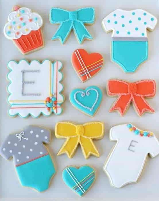 Modern Baby Cookies from Glorious Treats