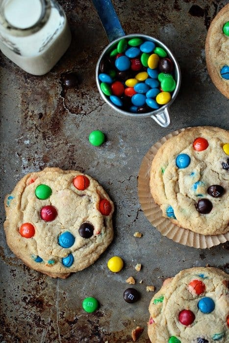 Giant M&M Cookies | My Baking Addiction