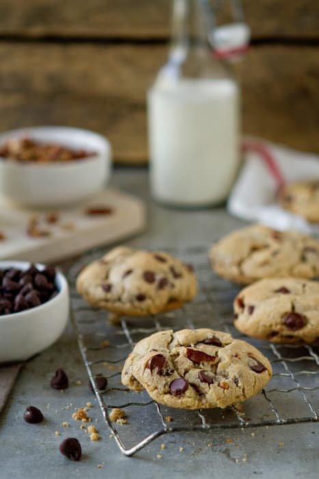 Post image for Dark Chocolate Chip Pecan Cookies