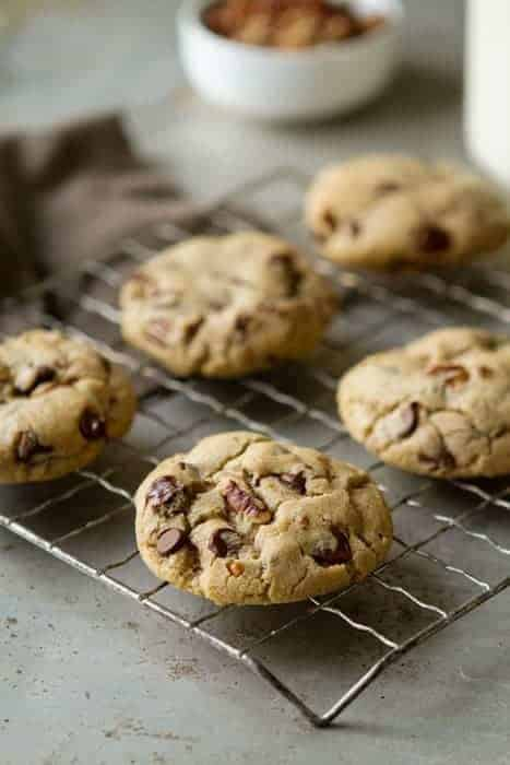 Dark Chocolate Chip Pecan Cookies