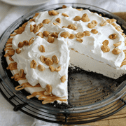 salted caramel peanut butter cream pie