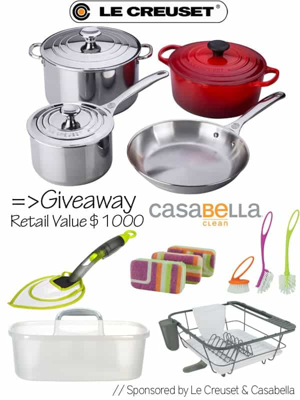 Post image for Le Creuset & Casabella Giveaway: {$1,000 Value}