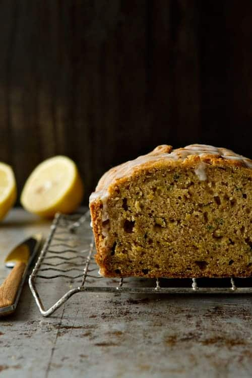 Glazed Lemon Zucchini Bread Photo | My Baking Addiction