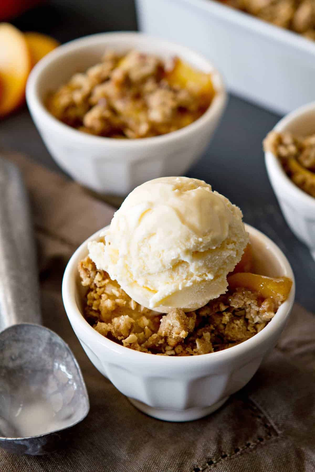 Peach Crisp | My Baking Addiction