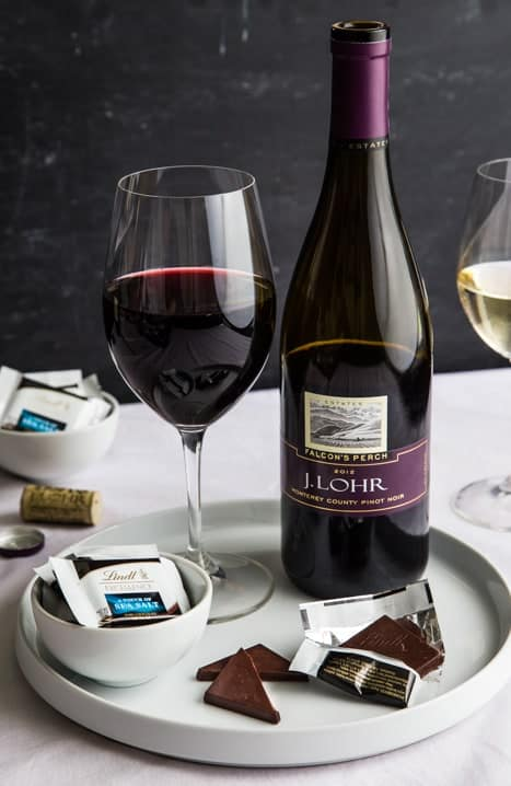 Lindt Chocolate and Wine Party Image from mybakingaddiction.com