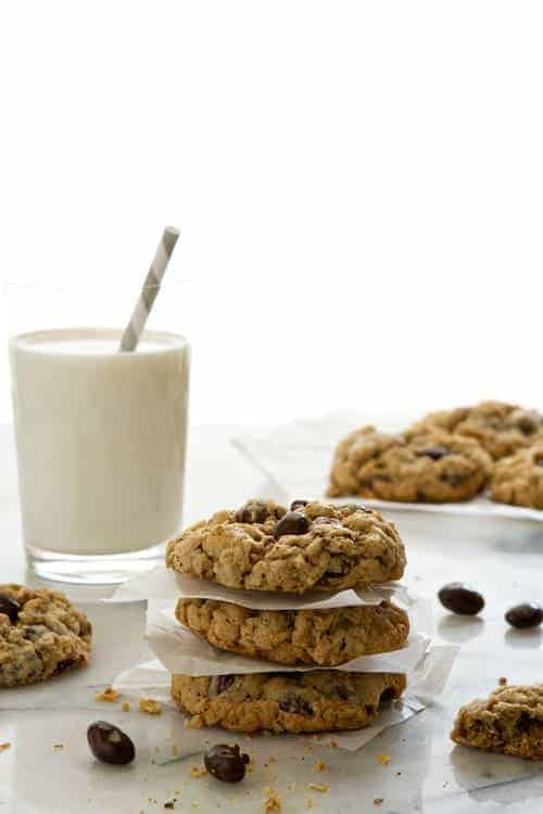 Oatmeal Raisin Cookies with Raisinets