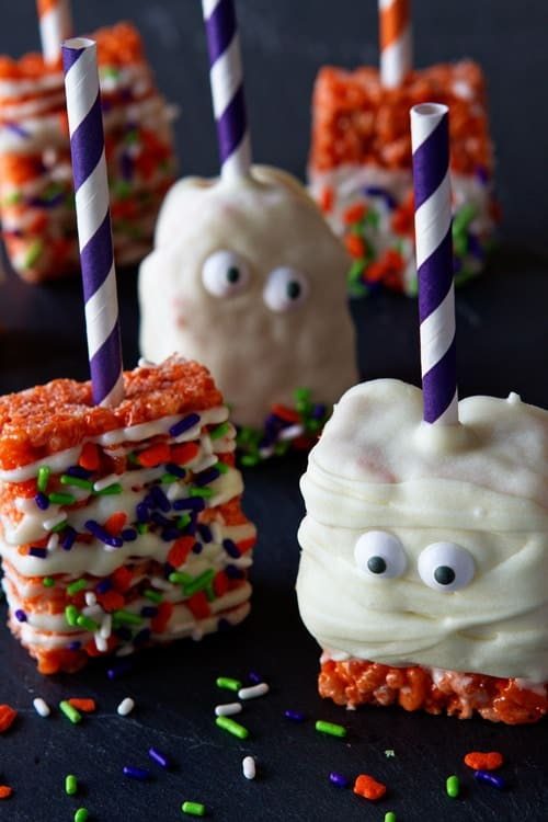 ... for Ghost Marshmallow Treats – they're pretty darn spooktacular