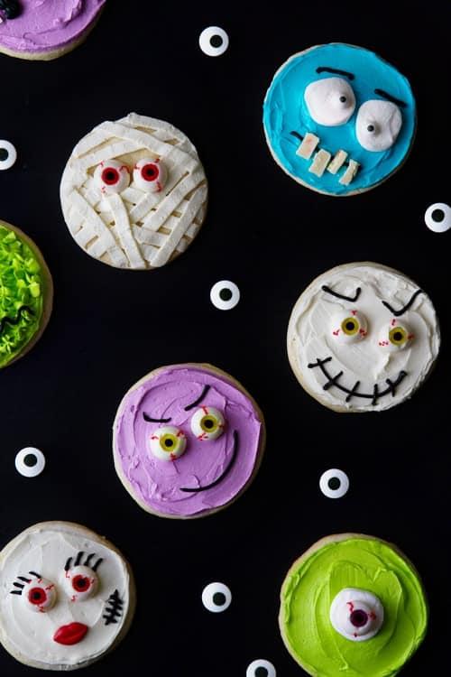 Halloween Monster Cookies Picture on MyBakingAddiction.com