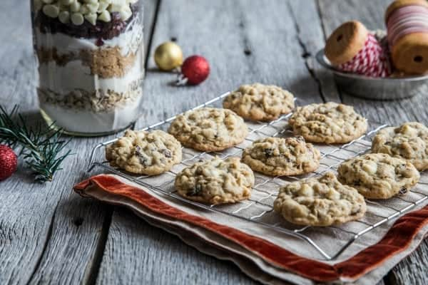 Cranberry Chocolate Cookies in a Jar