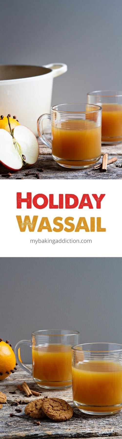 Holiday Wassail is the perfect warm and cozy beverage for the holidays! So great for entertaining!