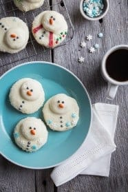 Melted Snowman Cookies from My Baking Addiction