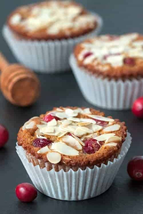 For a change of pace, try these honey sweetened gluten-free cranberry orange muffins! They stay soft for days, making them an ideal make-ahead breakfast.