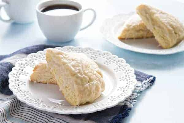 Glazed vanilla bean scones make an inspired and easy breakfast. Enjoy them on Sunday freshly baked, and as a treat the rest of the week too!