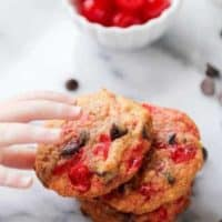 Cherry Coconut Chocolate Chip Cookies