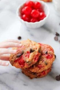 Cherry Coconut Chocolate Chip Cookies on My Baking Addiction