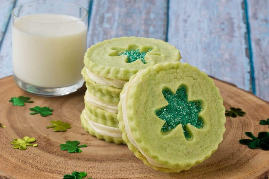 Pistachio Pudding Linzer Cookies | Decadent St. Patrick's Day Cookies You'll Love