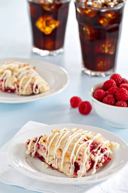 Lemon Raspberry Scones are tart and sweet. What a way to start your day!